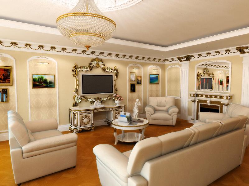 Красивый дизайн квартиры в светлых тонах