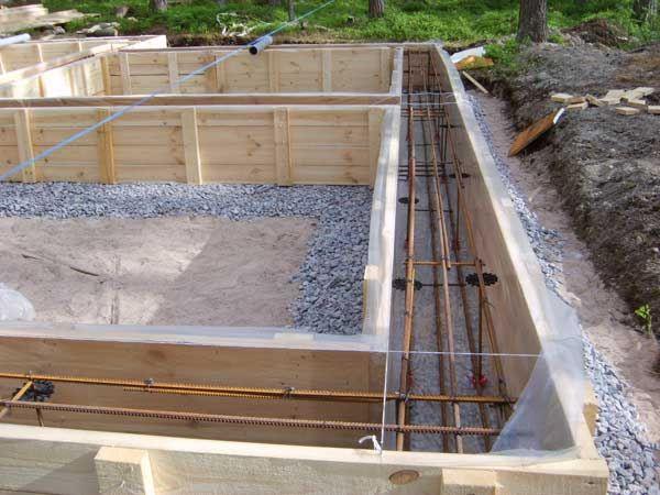 Армирование и заливка бетоном