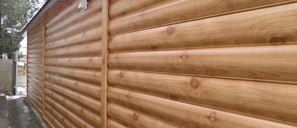 Металлический Блок-хаус имитирующий дерево