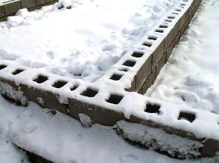Зимнее устройство основания