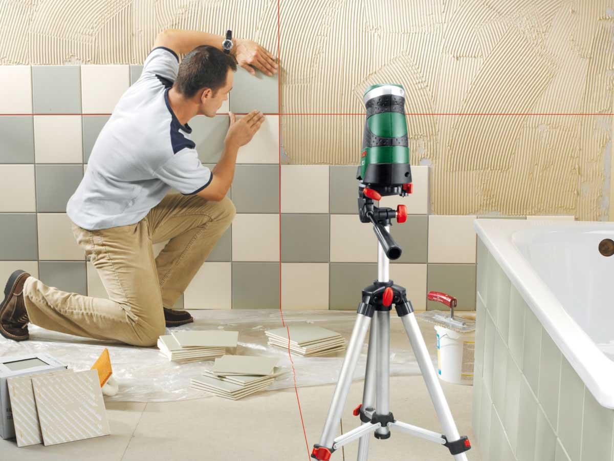 Облицовка стены кафельной плиткой