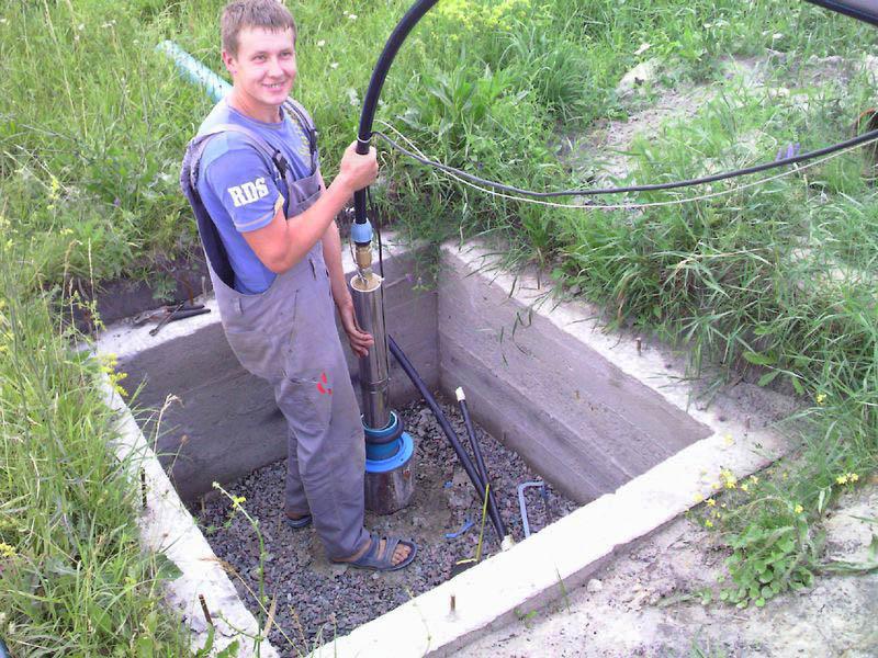 Установка системы подачи воды