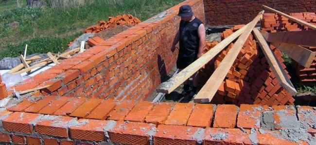 Кирпичный фундамент своими руками для каркасного дома