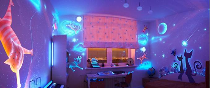 Флуоресцентные 3d обои