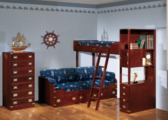Комната мальчика подростка в морском стиле