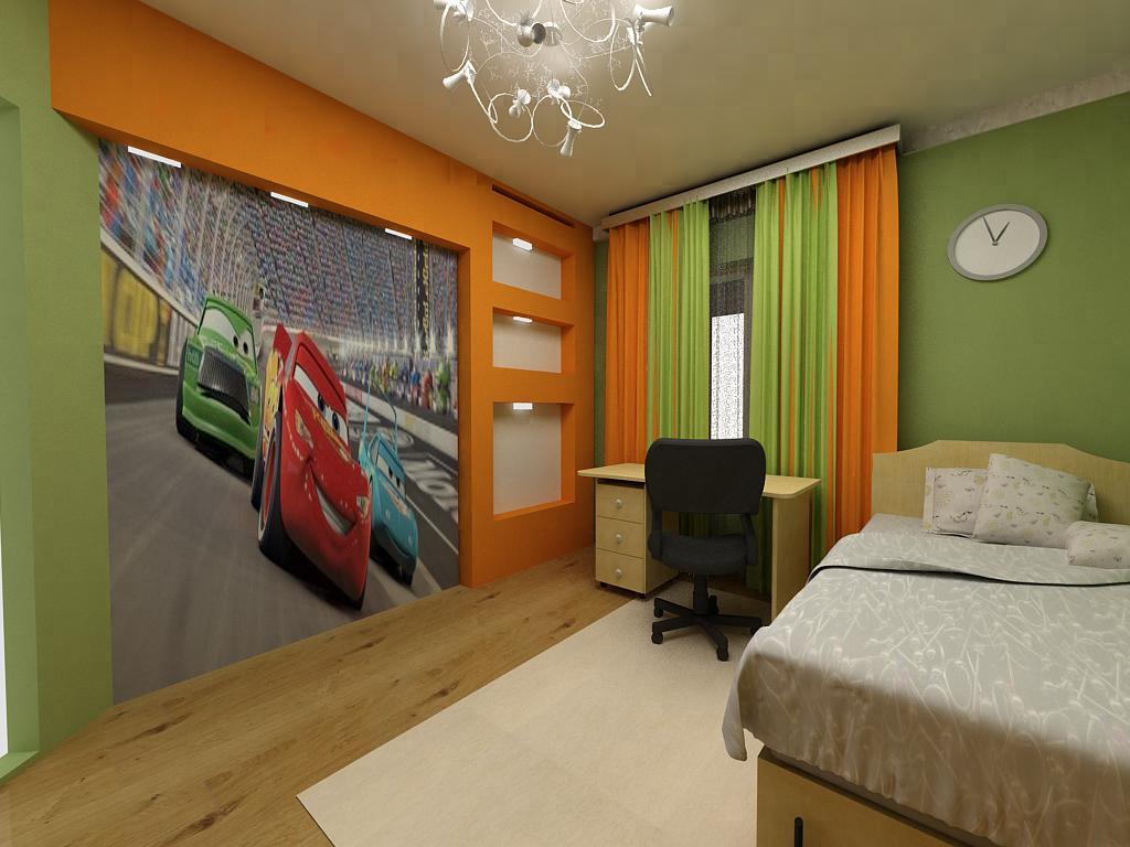 Основные цвета стен в комнате мальчика