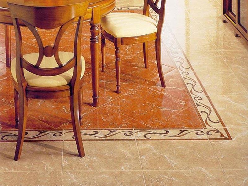 Керамика на полу кухни