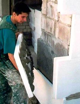 С какой стороны утеплять стены пенопластом