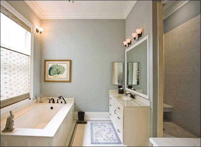 Краска в отделке ванной комнаты
